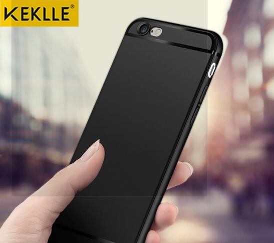 Ốp Lưng Nhựa Dẻo Cho iPhone 6/6S Keklle - Đen