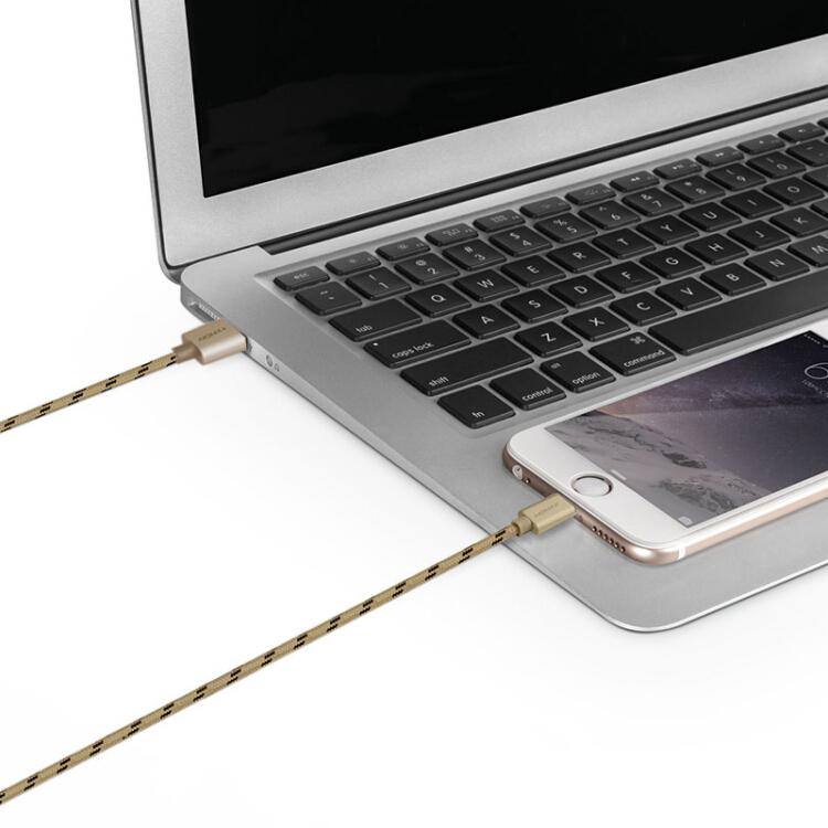 Cáp Sạc Và Truyền Dữ Liệu Dành Cho iPhone8 / 7 / 6 / 6sPlus / X / 5s / SE / iPad Đã Được Chứng Nhận MFi MOMAX Với Dây Dệt Nylon