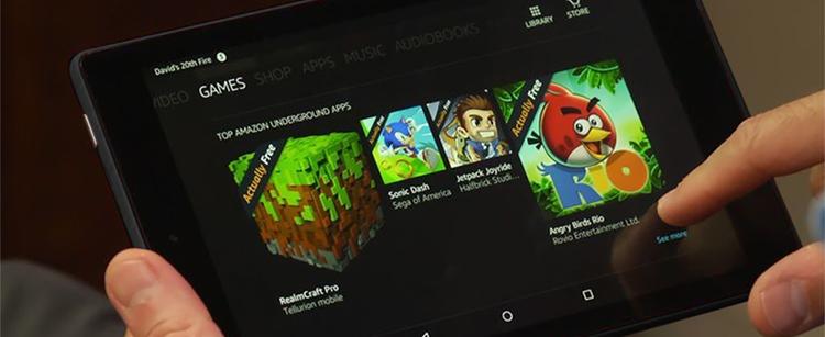 Máy Tính Bảng Kindle Fire HD8 - 32GB (2018) - Hàng Nhập Khẩu