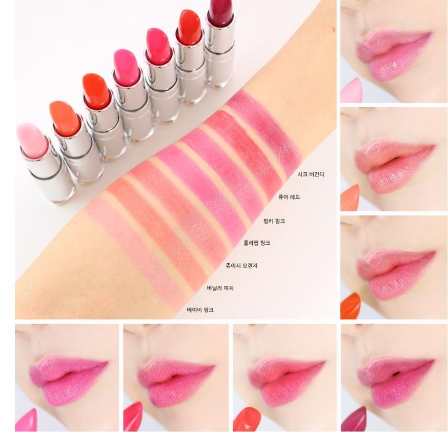 Son dưỡng môi có màu Secret Key Sweet Glam Tint Glow 3.5g #Pure Red (Đỏ tươi)