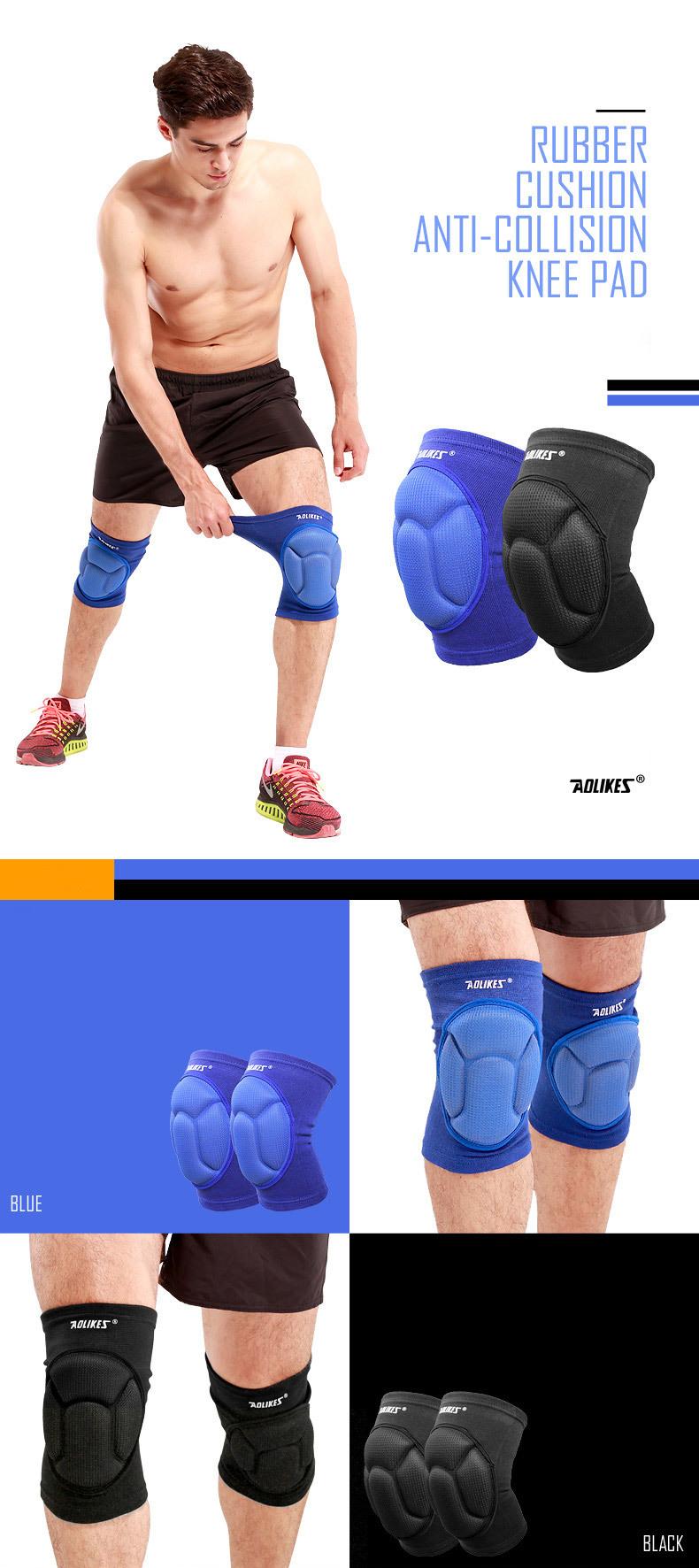 Miếng đệm hỗ trợ bảo vệ đầu gối khi đá bóng, bóng chuyền, đi xe đạp AOLIKES TC-0217