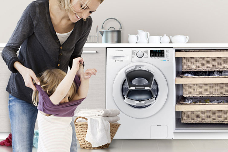Máy Giặt Cửa Trước Inverter AddWash Samsung WW75K5210YW (7.5kg)