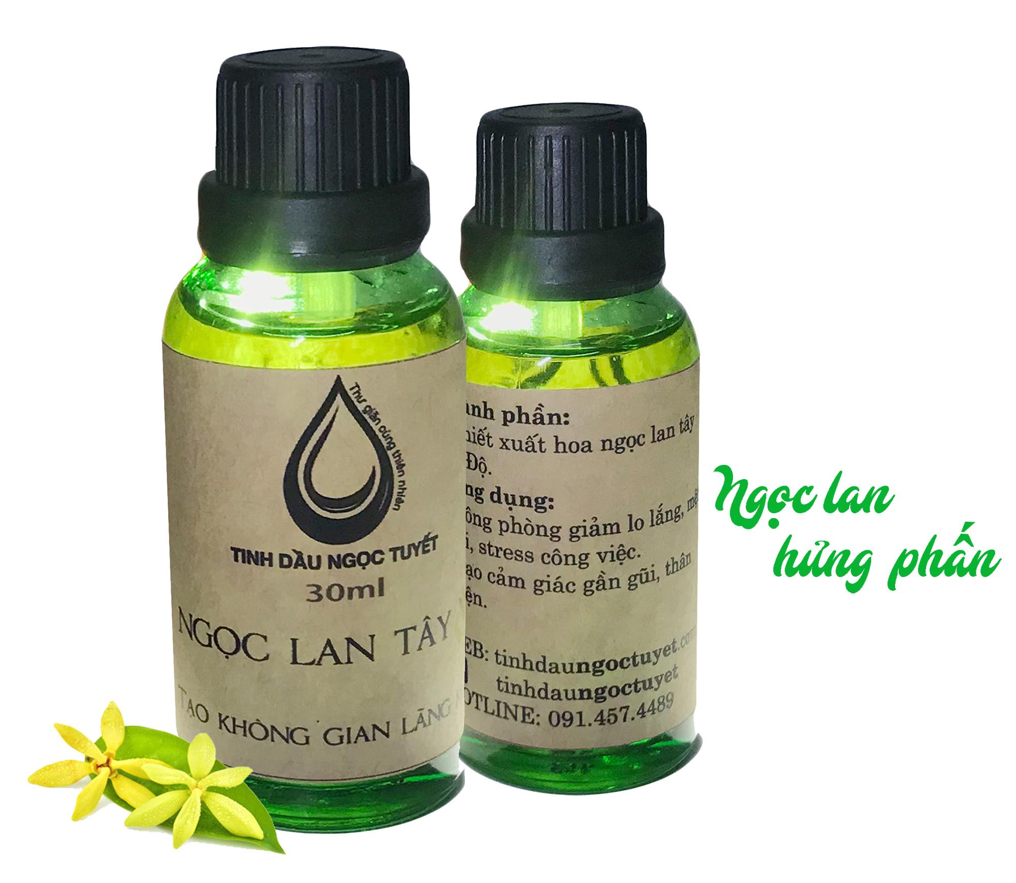 Combo 2 tinh dầu hoa ngọc lan tây thiên nhiên giúp hưng phấn giảm stress Ngọc Tuyết 50mlx2 (ylang ylang)