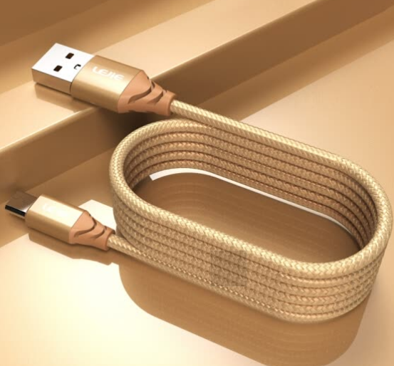 Cáp Sạc Micro USB Cho Android LEOIE LUMC-2200E (Dài 2m) - Vàng