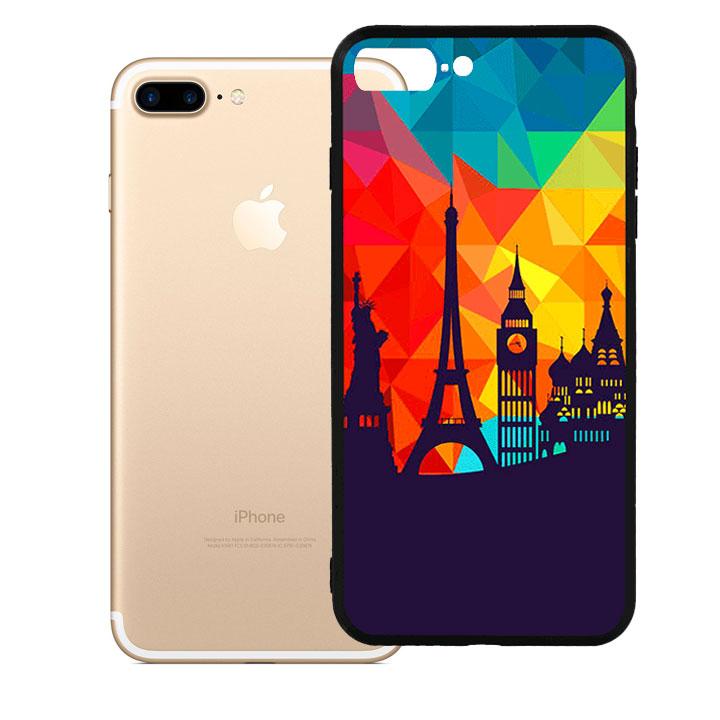 Ốp lưng viền TPU cao cấp cho Iphone 7 Plus - Travelling