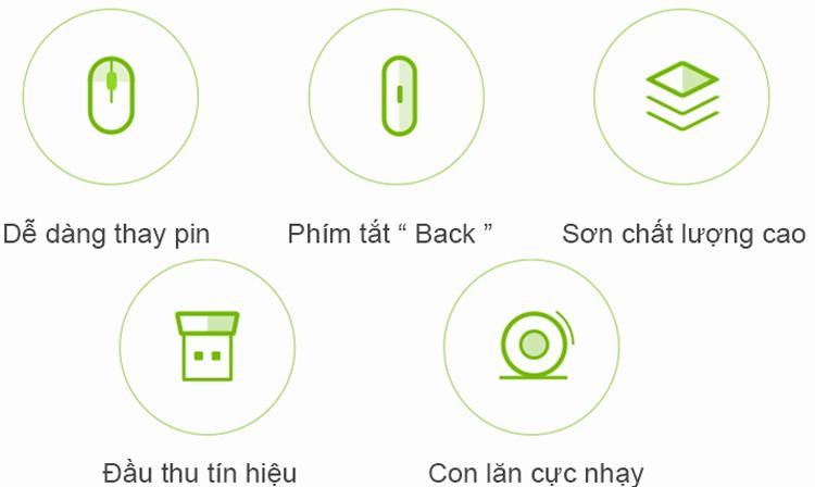 Chuột Không Dây Xiaomi Mi Wireless / Portable Mouse Version 2 - Hàng Chính Hãng