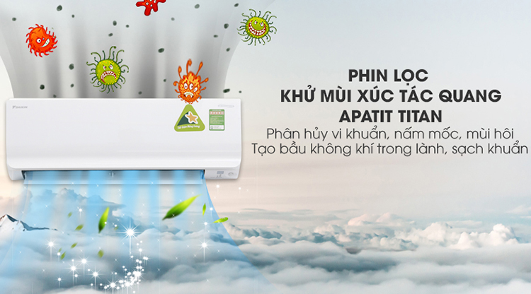 Máy Lạnh Inverter Daikin FTKM25SVMV/RKM25SVMV (1.0HP)