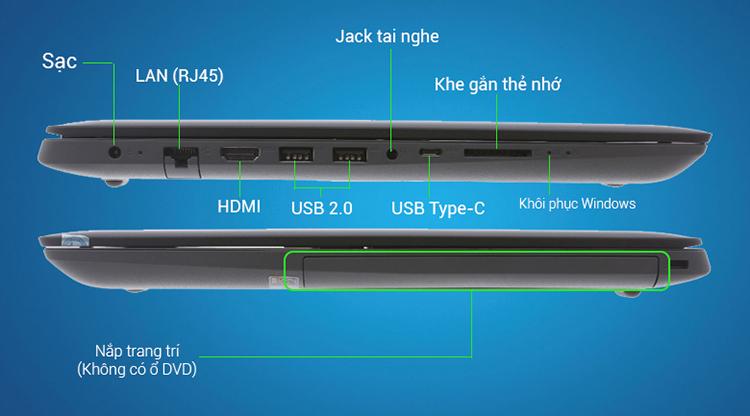 Laptop Lenovo Ideapad 320-14ISK 80XG0083VN Core i3-6006U/Win10 (14 inch) - Black - Hàng Chính Hãng