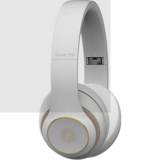Tai Nghe Có Dây Và Không Dây Bluetooth Giảm Tiếng Ồn Độ Trung Thực Cao IGene Super HD II - Trắng