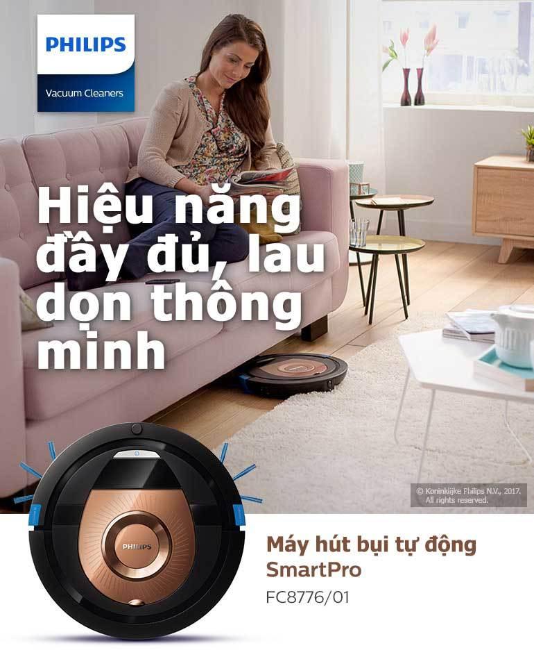 Robot Hút Bụi Philips FC8776 - Vàng Đồng