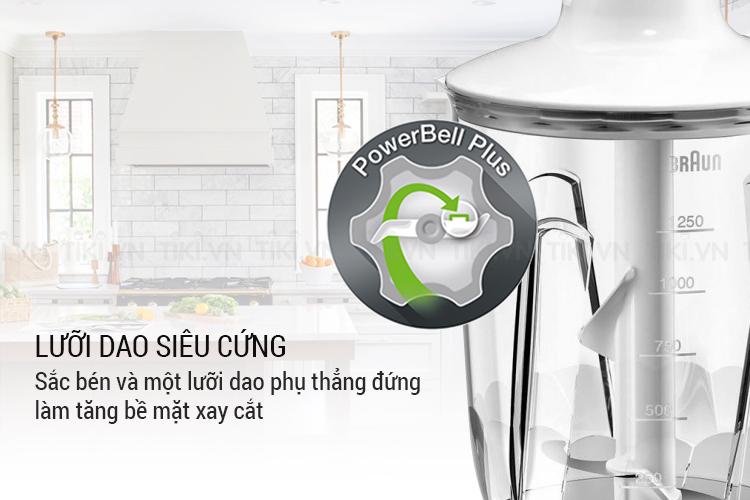 Máy Xay Sinh Tố Cầm Tay Braun MQ3035 Sauce (700W) – Trắng Xanh