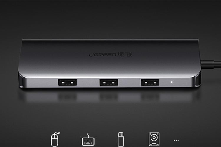 Cáp USB-C Full 9 in 1 Multifunction Ugreen (40873)