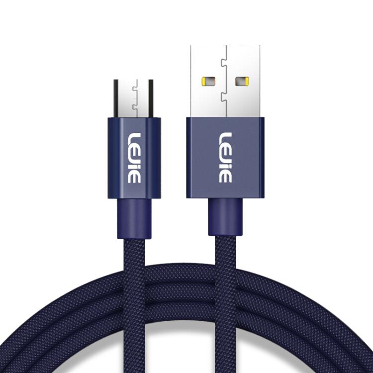 Cáp Sạc Và Truyền Dữ Liệu Micro USB Android Hỗ Trợ Dòng Máy Huawei / millet / Samsung / Meizu / vivo /360 LUMC-1100C Lok LEJIE Dài 1m - Xanh Dương