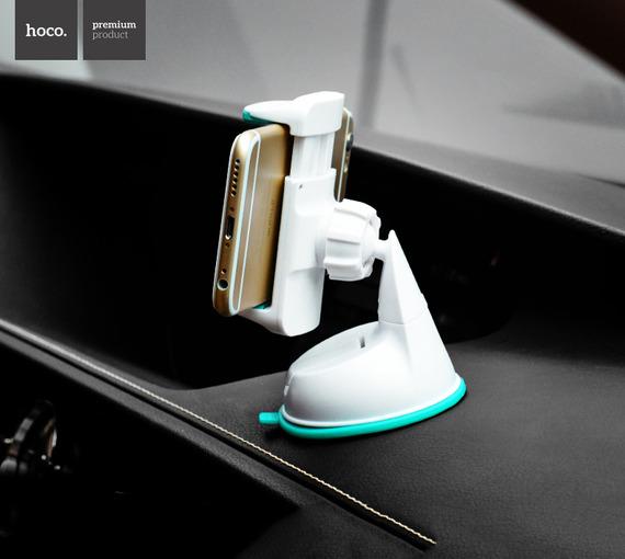 Giá đỡ điện thoại trên Ôtô dạng keo dính HoCo CA5 ( Xám)