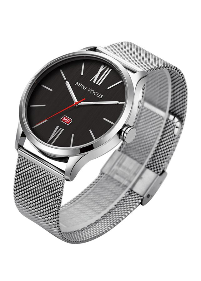 Đồng hồ nam Mini Focus dây thép lưới cao cấp đẳng cấp doanh nhân JS-MF018