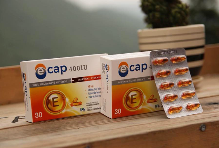Viên uống Vitamin E 400IU hộp thuốc