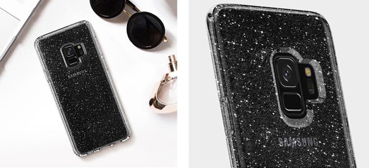 Ốp Lưng Samsung Galaxy S9 Spigen Liquid Crystal Glitter - Hàng Chính Hãng
