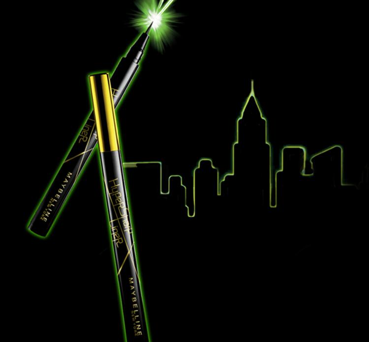 Bút Kẻ Mắt Nước Siêu Sắc Mảnh Không Lem Không Trôi Maybelline New York HyperSharp Liner Đen 0.5g 2