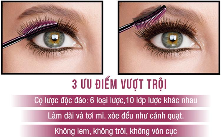 Mascara Dài Và Dày Mi Maybelline Lash Sensation Mascara - Đen (10ml)