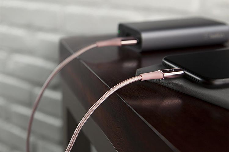 Dây Cáp Sạc USB Type-C Sợi Kevlar Belkin F2CU059BT04 1.2m - Hàng Chính Hãng