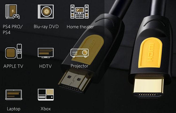 Cáp HDMI 1.4 Ugreen 10115 1m - Hàng Chính Hãng