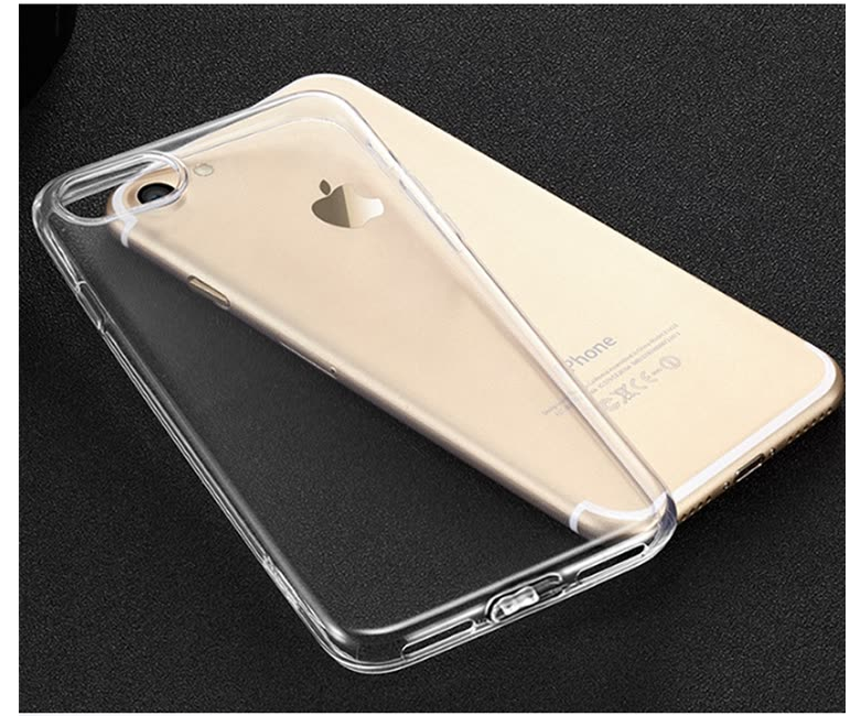 Ốp Điện Thoại Mềm Bằng Silicone Trong Suốt Cho iPhone 6Plus Wei Ji