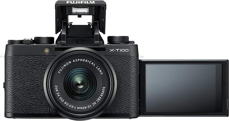 Máy Ảnh Fujifilm X-T100 Kit XC15-45mm f3.5-5.6 OIS (Đen)