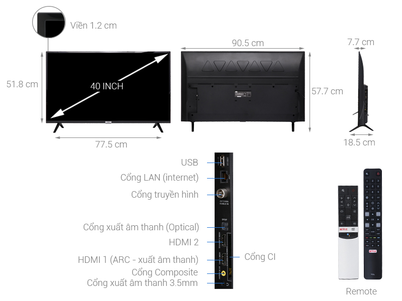 Android Tivi TCL 32 inch HD 32S6500