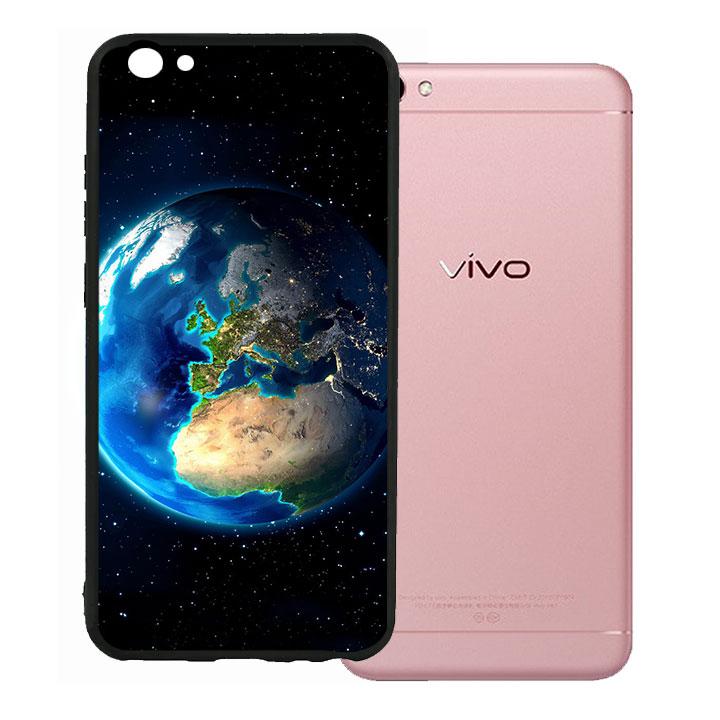 Ốp lưng viền TPU cao cấp cho Vivo V5 - Earth