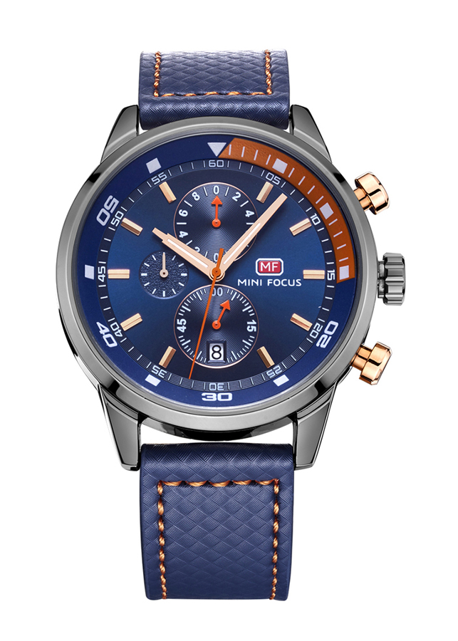 Đồng hồ nam Mini focus dây da cao cấp kiểu dáng thể thao trẻ trung năng động JS-MF017