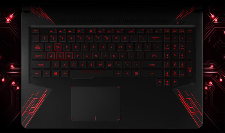 Laptop Asus ROG TUF Gaming FX504GE-E4196T Core i7-8750H/Win10 (15.6 inch) - Black - Hàng Chính Hãng