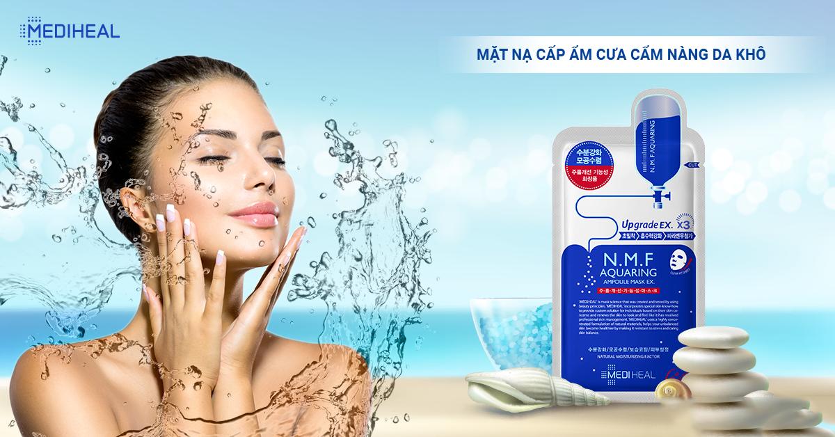 Combo 5 Mặt nạ cấp nước dưỡng ẩm cho da khô Mediheal N.M.F ...