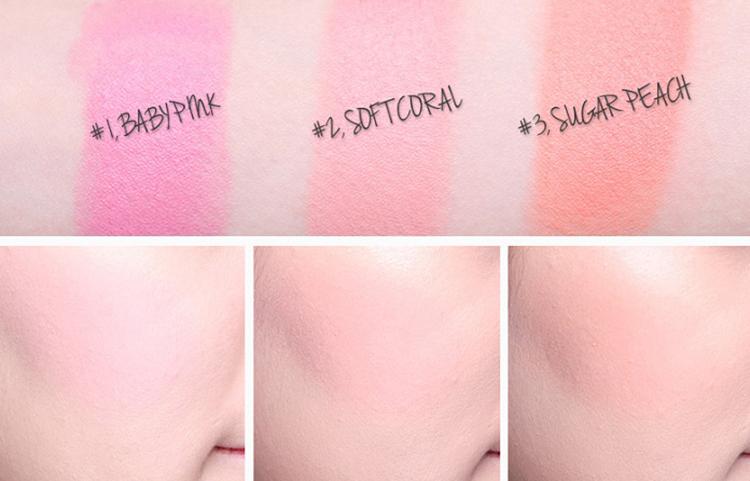 Kem Má Hồng Skinaz Stick Blusher (#1 Baby Pink)