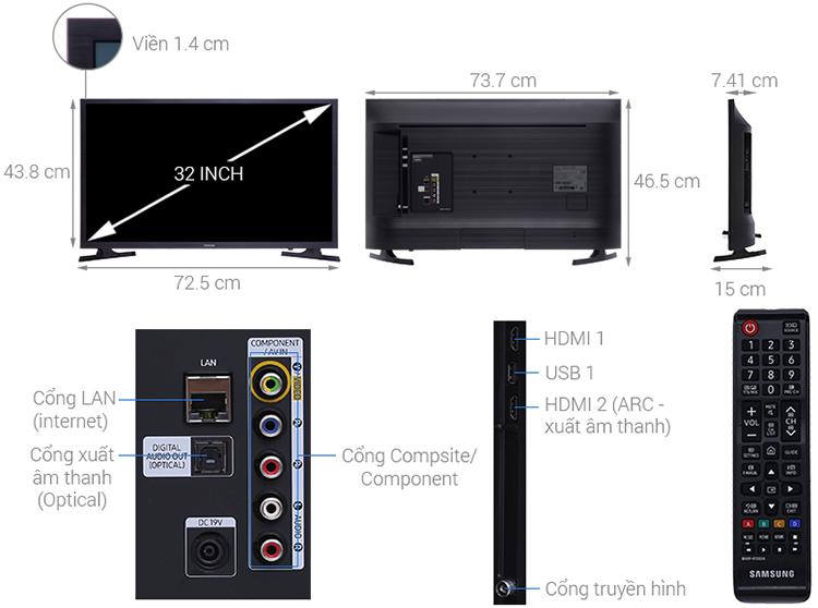 Smart Tivi Samsung 32 inch HD UA32N4300AKXXV