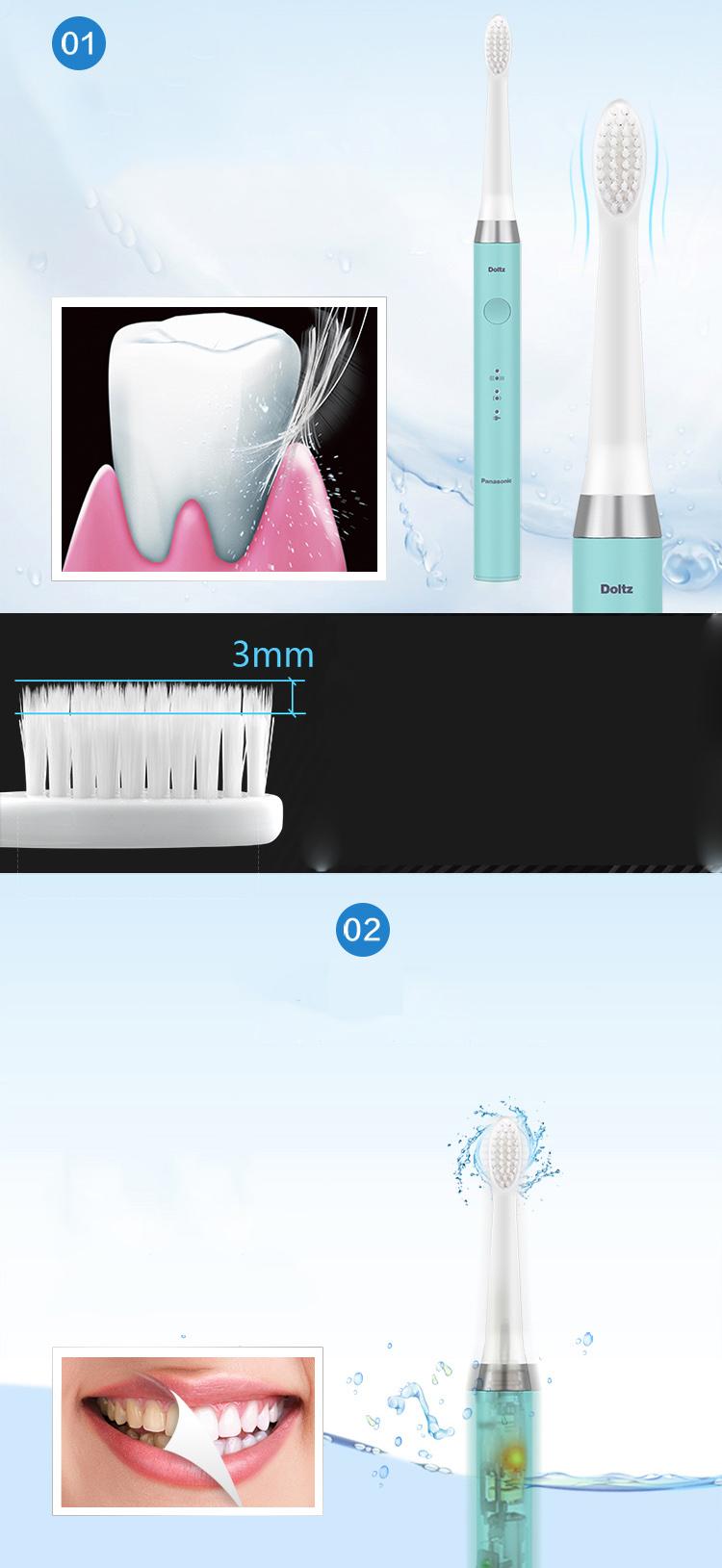 Bàn Chải Đánh Răng Điện Năng Panasonic EW-DM71-A405 Với Hai Chế Độ Làm Sạch Dựa Trên Sự Dao Động Âm Thanh