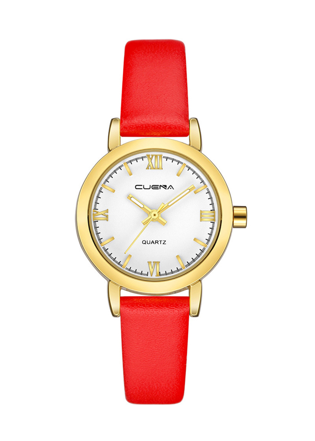 Đồng hồ nữ Cuena dây da số la mã thời trang JS-CE6624