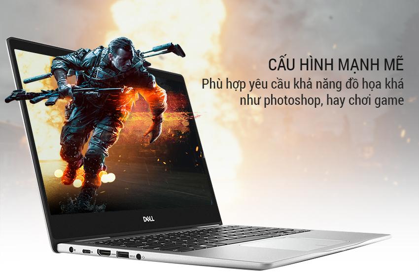 Laptop Dell Inspiron 13 7370 7D61Y2 Core i7-8550U/Win10 (13 3 inch) -  Silver - Hàng Chính Hãng