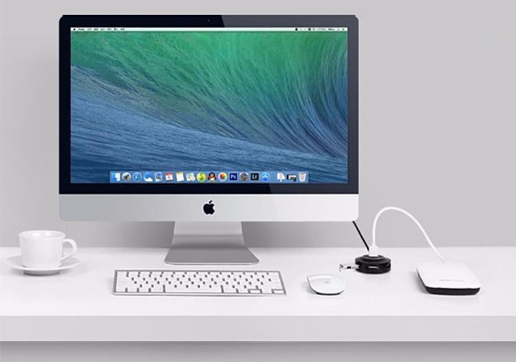 Hub USB Ugreen 4xUSB2.0 OTG 20275 (80cm) - Hàng Chính Hãng