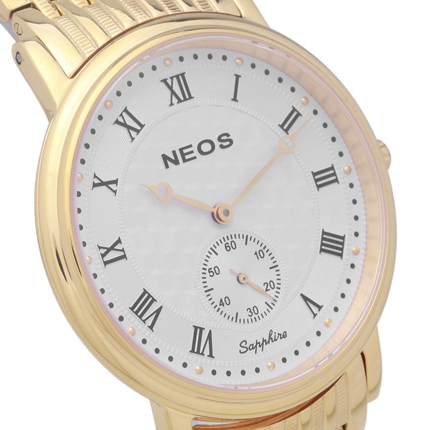 Đồng hồ NEOS N-30851M nam dây thép vàng