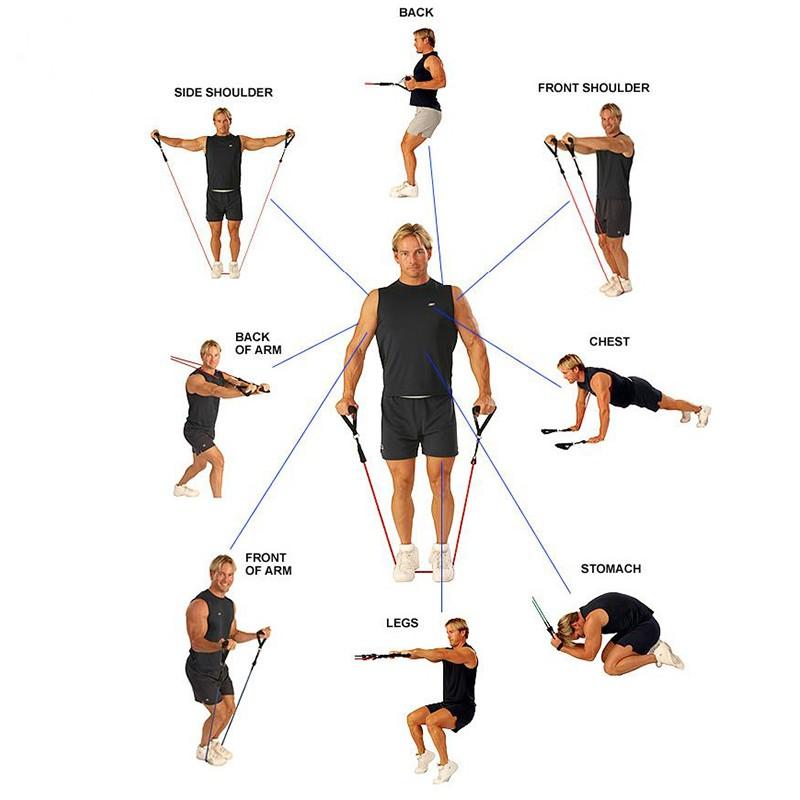 Dây đàn hồi tập Gym 1Z, dây tập thể lực 1 màu, dây tập kháng lực bản Tiêu Chuẩn - POKI