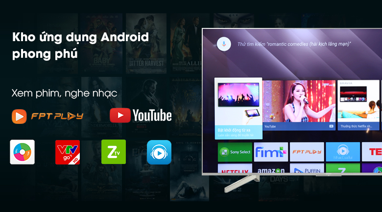 Android Tivi Sony 60 inch 4K UHD KD-60X8300F VN3