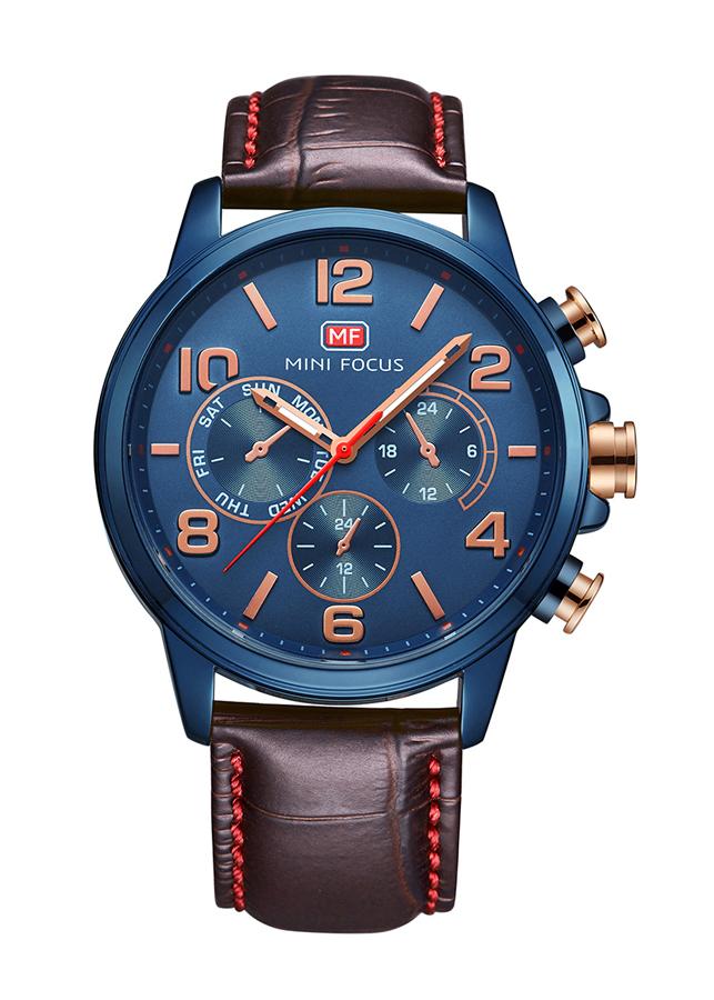 Đồng hồ nam Mini Focus dây da trơn style thể thao trẻ trung năng động JS-MF001