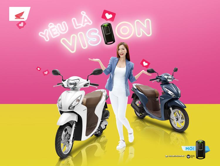 Xe máy Honda Vision 2019 Bản cao cấp Smartkey - Đỏ Tươi=34.020.000 ₫