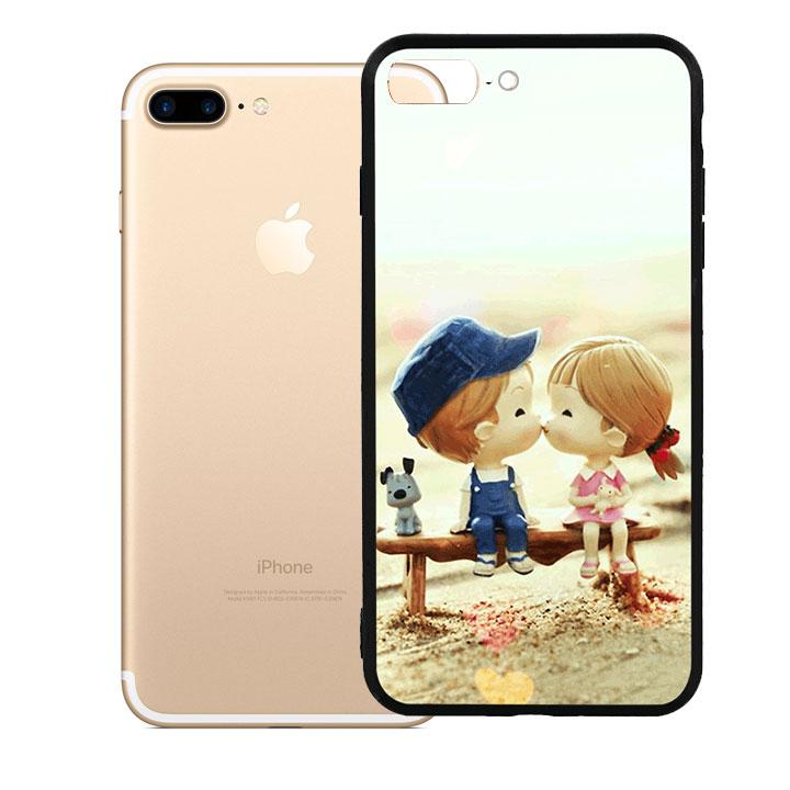 Ốp lưng viền TPU cao cấp cho Iphone 7 Plus - Kiss Love 03