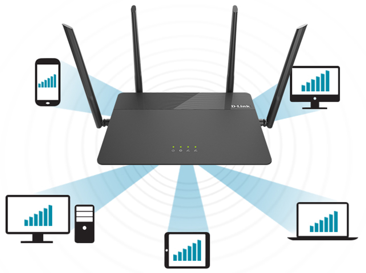 D-Link DIR-878 AC1900 - Router Wifi a/g/n/ac 2.4GHz/5GHz Băng Tần Kép - Hàng Chính Hãng