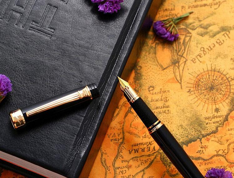 Combo Quà Tặng Bút Máy Ghim Vàng Và Mực Picasso (Pimio)