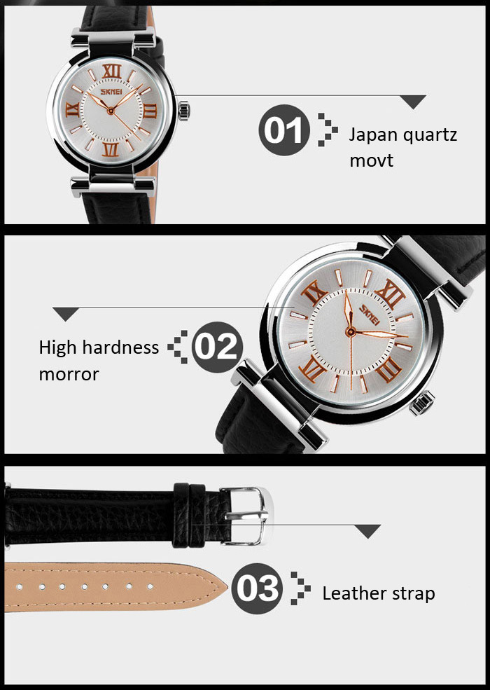 Đồng hồ Nữ da dây SKMEI 9075  - DHA134