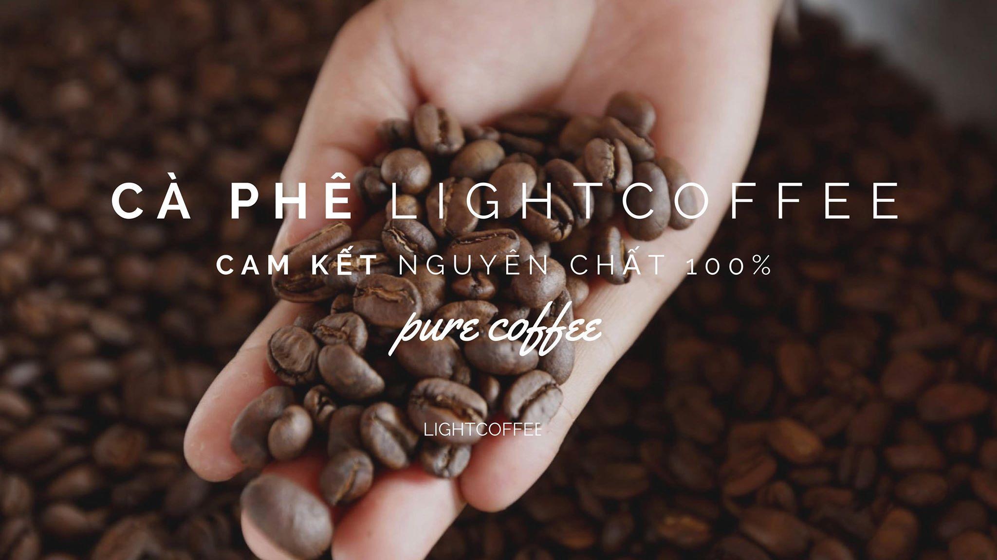 Cà Phê Hạt Nguyên Chất 100% Robusta Hảo Hạng Light Coffee RHH-100 (100g)