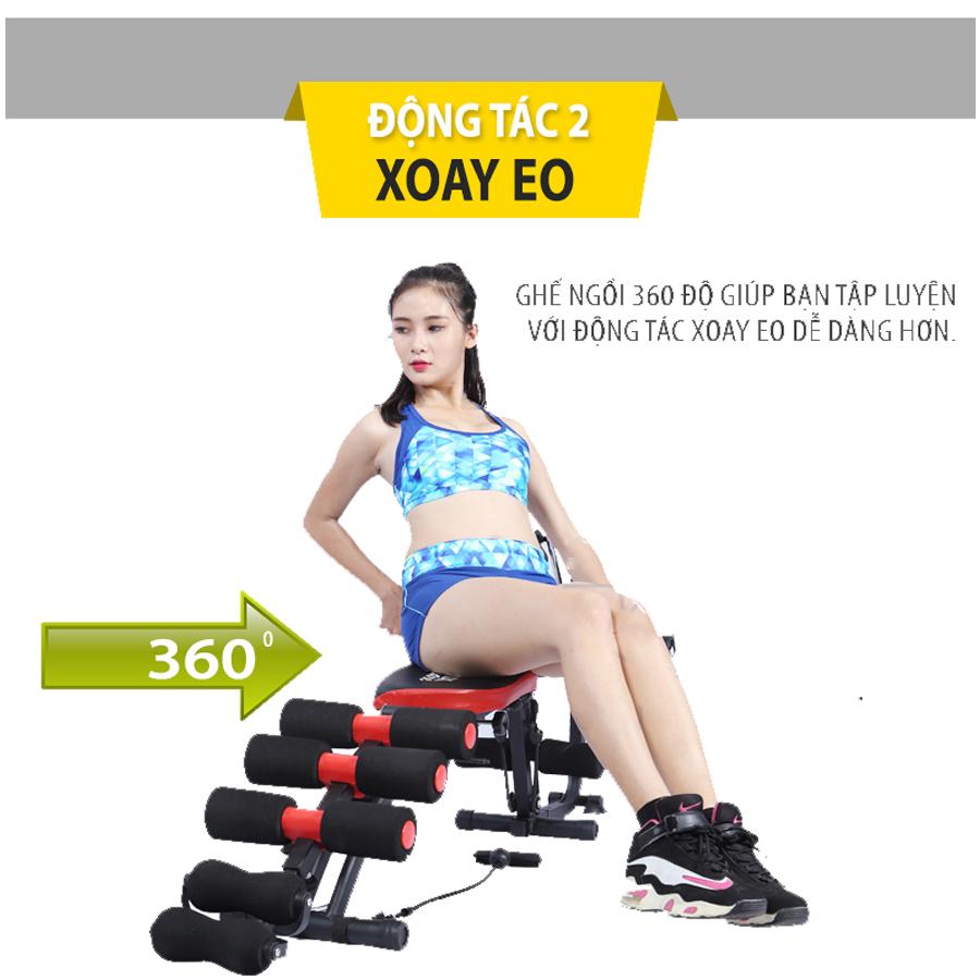 Combo Máy tập cơ bụng six pack care đạp xe thế hệ mới + Máy massage xung điện EMS
