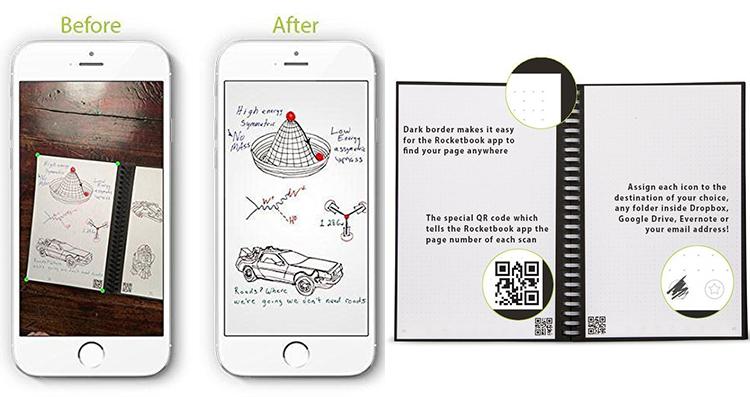Sổ Ghi Chú Thông Minh Rocketbook Wave Smart Notebook - Hàng Nhập Khẩu